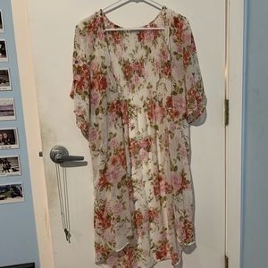 floral short sleeve kimono